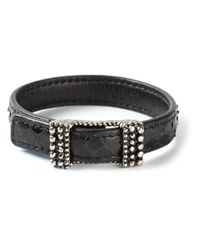 Bottega Veneta | Black Buckled Bracelet | Lyst