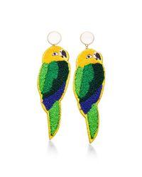 Masterpeace - Green Parrot Earrings - Lyst