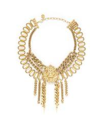 Ela Stone - Metallic Lion Nala Plastron Necklace - Lyst