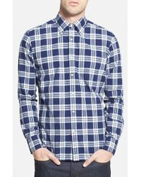 "Gant Rugger | Blue 'winter Madras"" E-z Fit Plaid Woven Shirt for Men 