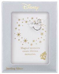 Disney - Metallic Magical Moment Mickey Heart Pendant Necklace In Sterling Silver - Lyst