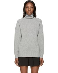 Chloé - Gray Grey Iconic Cashmere Turtleneck - Lyst
