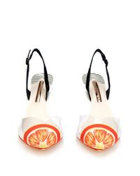 Sophia Webster - Black Mimi Tangerine Point-Toe Pumps - Lyst