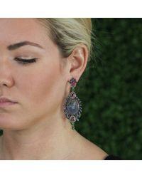Wendy Yue - Pink Carved Tanzanite Earrings - Lyst