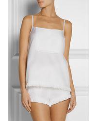 The Sleep Shirt - White Royal Oxford Pintucked Cotton Pajama Top - Lyst