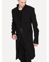 Cedric Jacquemyn - Black Long Raw Collar Suit Jacket for Men - Lyst