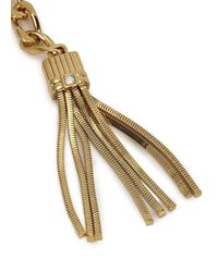 Lanvin | Metallic Art Deco Gold Tone Chain Necklace | Lyst