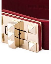 Valentino | Red 'rockstud' Bracelet | Lyst