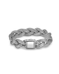 John Hardy - Metallic Braided Chain 14mm Bracelet In Silver - Lyst