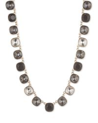 Anne Klein | Gray Jet Crystal Collar Necklace | Lyst
