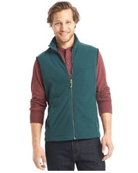 G.H. Bass & Co. | Green Full-zip Mock-neck Arctic Fleece Vest for Men | Lyst