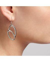 John Lewis - Metallic Double Oval Hook Earrings - Lyst