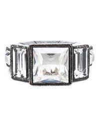 Lanvin - Metallic Art Deco Ring - Lyst