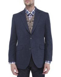 Jules B - Blue Mens Wool Blend Hacking Jacket for Men - Lyst
