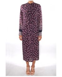 Mother Of Pearl | Blue Lawrence Blossom-print Silk Dress | Lyst
