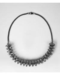 AllSaints - Black Thalia Necklace - Lyst