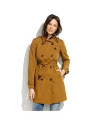 Madewell - Brown Cornershop Trench - Lyst