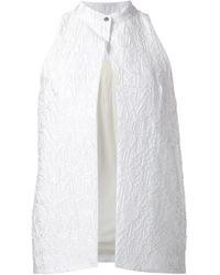 Mary Katrantzou | White Jq Waistcoat | Lyst