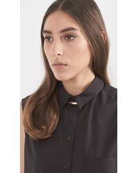 Loren Stewart - Black Gold & Leather Choker Necklace - Lyst