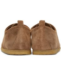 Burberry - Brown Suede Tobias Moccasins for Men - Lyst