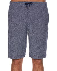 Sunspel - Blue Loop-stitch Cotton Shorts for Men - Lyst