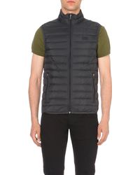 Armani Jeans - Gray Quilted Gilet for Men - Lyst