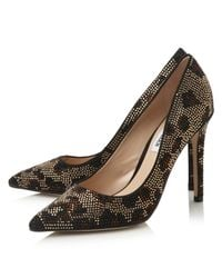 Steve Madden | Metallic Pizazz Jewel Embellished Court Shoes | Lyst
