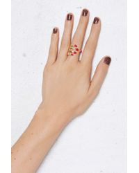 Nasty Gal - Red Hand It To Ya Ring - Lyst