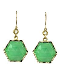 Irene Neuwirth | Metallic Chrysoprase And Diamond Hexagon Earrings | Lyst