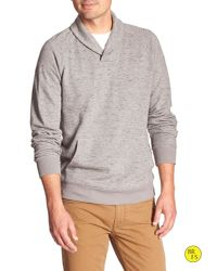 Banana Republic | Gray Factory Shawl-collar Pullover for Men | Lyst