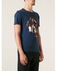 Paul & Joe - Blue Patchwork Dog Print Tshirt for Men - Lyst