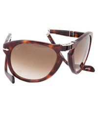 "Persol - ""Steve Mcqueen\"" Edition: Havana Tortoise Frame With Brown Faded Lens - Lyst"