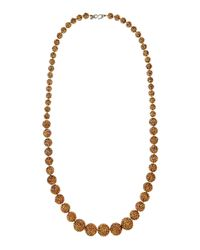 Kenneth Jay Lane - Metallic Gradient Fireball Long Necklace - Lyst