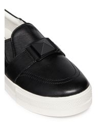 Ash | Black 'jem' Pyramid Stud Leather Slip-ons | Lyst