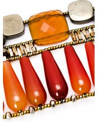 Ziio | Orange Incas Large Beaded Bracelet | Lyst