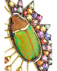Daniela Villegas - Green 18-karat Gold, Sapphire And Beetle Necklace - Lyst