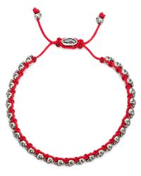 M. Cohen | Red Mini Skull Friendship Bracelet for Men | Lyst