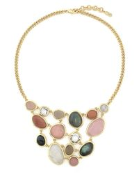 Cole Haan | Metallic Mixed Gem Gold-plated Necklace | Lyst