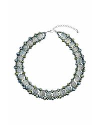 TOPSHOP | Green Facet Bead Necklace | Lyst