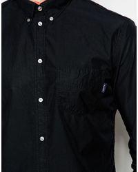 Paul Smith | Black Slim Fit Poplin Shirt With Pocket for Men | Lyst