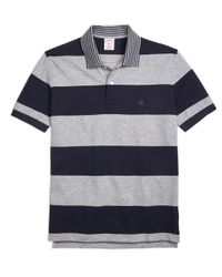 Brooks Brothers | Blue Original Fit Engineered Rugby Stripe Polo Shirt for Men | Lyst