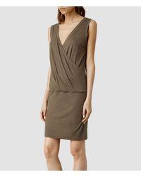 AllSaints - Brown Kerin Dress - Lyst