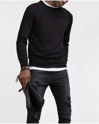Zara   Black Viscose Sweater for Men   Lyst