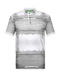 BOSS Green Gray Golf Polo Shirt In Cotton Blend: 'paddy Mk 1' for men