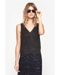 Won Hundred - Black Cici Silk Top - Lyst