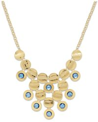 Style & Co. | Style&co. Gold-tone Blue Circle Cluster Bib Necklace | Lyst