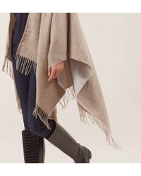 Hobbs | Natural Alison Blanket Wrap | Lyst