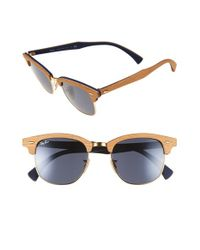 bde72bab3b0 Gallery. Previously sold at  Nordstrom · Men s Ray Ban Clubmaster Men s  Square Sunglasses ...
