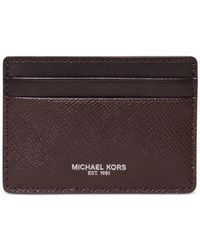 Michael Kors | Brown Harrison Card Case With Key Fob Set for Men | Lyst