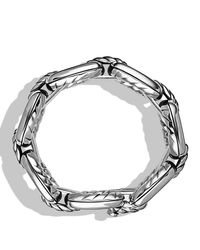 David Yurman | Metallic Cable Link Bracelet | Lyst